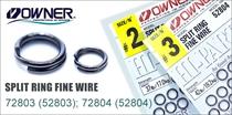 72803/72804 Split Ring Fine Wire